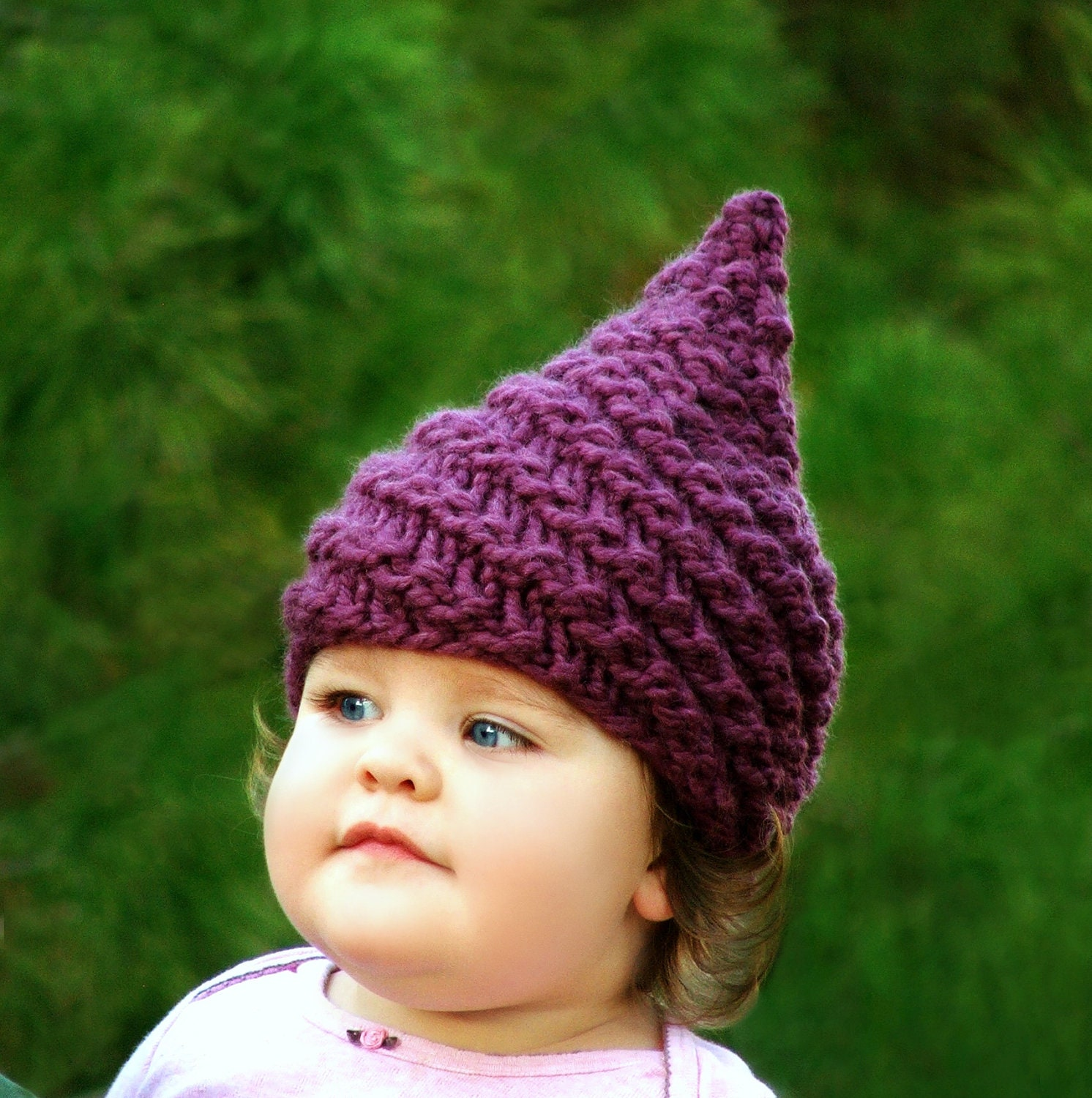 Baby Gnome Hat Knitting Pattern : Items similar to Gnome Hat Baby Elf Hat Infant Gnome Hat ...