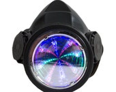 Infinity Tunnel LED Gas Mask Single Tank Respirator Rave Cyber Goth Steampunk Wear Clothing
