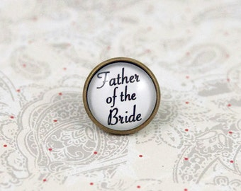 Father of the Bride Lapel Pin, Tie Tack, Tie Pin, Boutonniere Pin for Dad, Brooch Pin