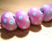 Reserved Listing for Rebecca Matt Purple Reactions Lampwork Beads, FHFteam, SRA, UK - SALE