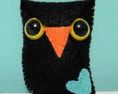 w00t Owl Plush (black)