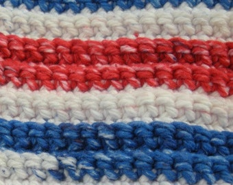 American Stripes Handmade Crocheted-Duster Tool Cover