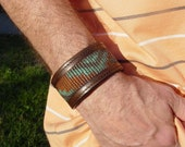 Upcycled Men's Leather Bracelet / Free shipping in the U.S. & Canada
