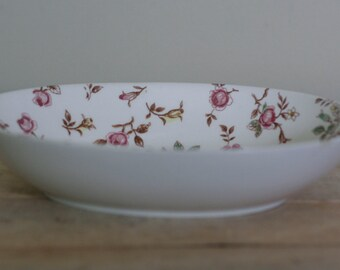 vintage oval serving bowl briarcliff made in japan