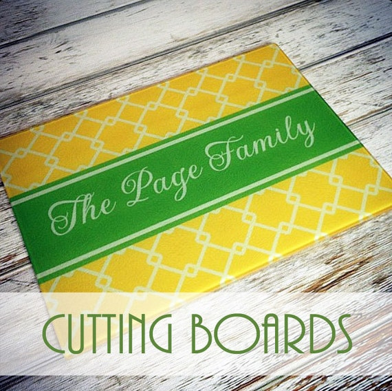 Items similar to monogrammed glass cutting board design for Make your own chopping board