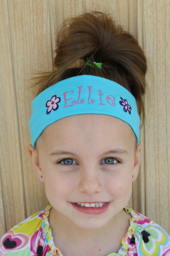 Personalized embroidered knit headbands 1-9
