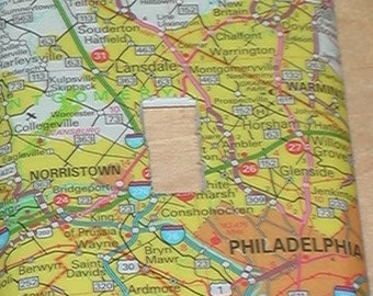 Pennsylvania Map Single Toggle Light Switch Plate Cover