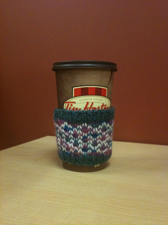 Coffee Cup Cozy in Jewel Toned Stained Glass Design