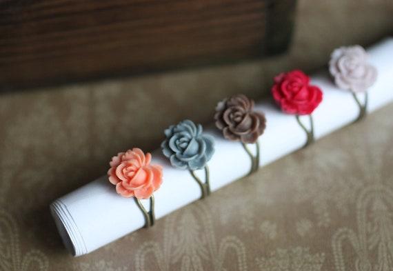 SALE - Bright Flower Rings - 2 Lavender Rings In Stock