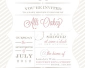 Baby Shower Invitation - Modern Meets Country