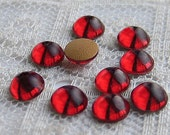 5mm Swarovski Siam Red Flat Back Cab Cabochons Qty 10