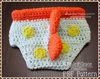 Crochet Dinosaur Diaper Cover Pattern, Spiked,  DINO - pdf 712