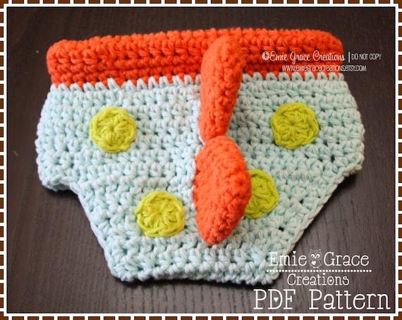 Crochet Dinosaur Hat And Diaper Cover Pattern : Crochet Dinosaur Diaper Cover Pattern Spiked DINO pdf 712