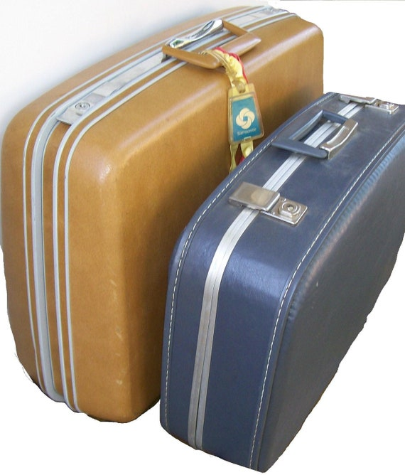 Vintage Samsonite Luggage. Mad Men Style.  His and Hers. Traveling Companions