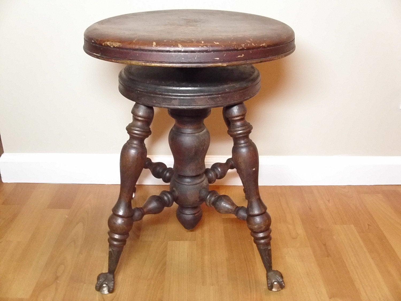 pliang stol ~ antique melvin bancroft mahogany piano stool