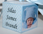 Baby's First Christmas Ornament: Personalized  - Baby's 1st Christmas Ornament - Photo Ornament