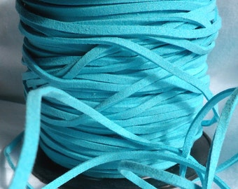 5 Yards- Turquoise Suede Cord
