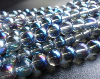 Meridian Mystic Glass Rounds 6mm Half Strand