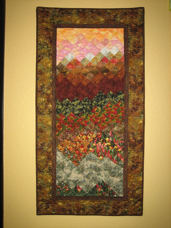 Sunset in Tahoe Art Quilt Wall Hanging