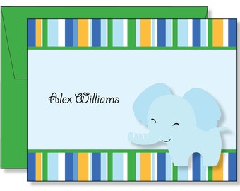 Custom Baby Elephant Thank You Note Cards