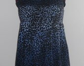 Plus size ombre leopard print tunic mini dress