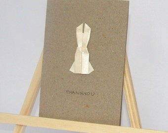 Origami Card - Elegant Dress - Thankyou C6 Size