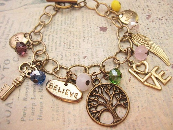 Inspire Me. a charm bracelet