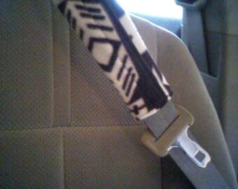 Print or Solid Fleece Seat Belt Cover