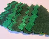 DIY Felt Christmas Trees Ornaments-Evergreen Trees Die Cuts-Christmas Stocking-Felt Appliques-Holiday Garland-Quiet Books-Bible Journaling