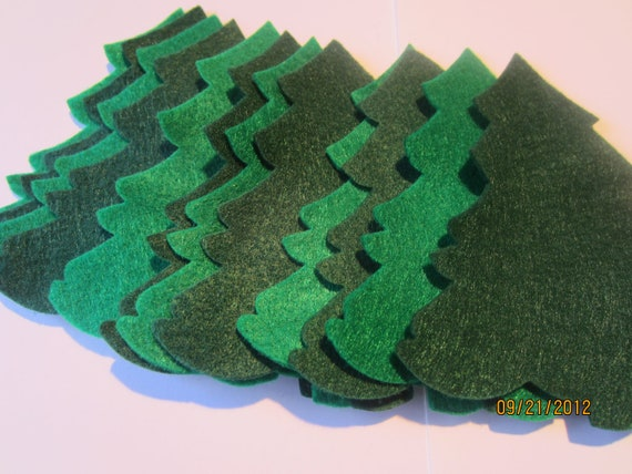 DIY Felt Christmas Trees Ornaments-Evergreen Trees Die