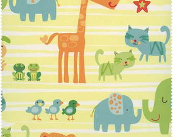 New Castle Fabrics, Best Friends Animals (Yellow) 778-24 1 yard