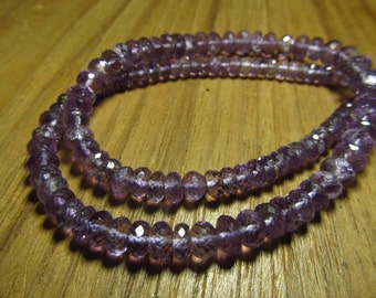 16 inches So Gorgeous Neckless - AMETHYST - Micro Faceted Rondell Beads Sparkle size - 5 - 7 mm approx