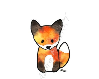 The Fox 5x7 print