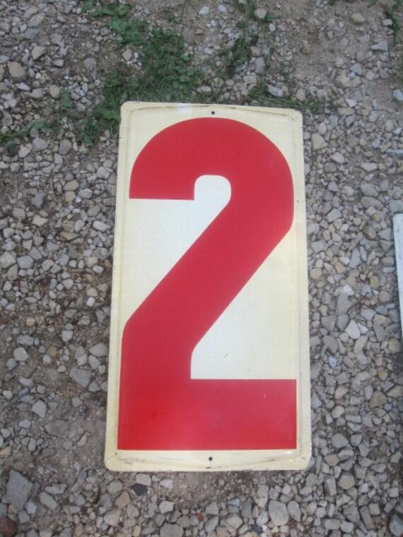 Large Metal Number - 2