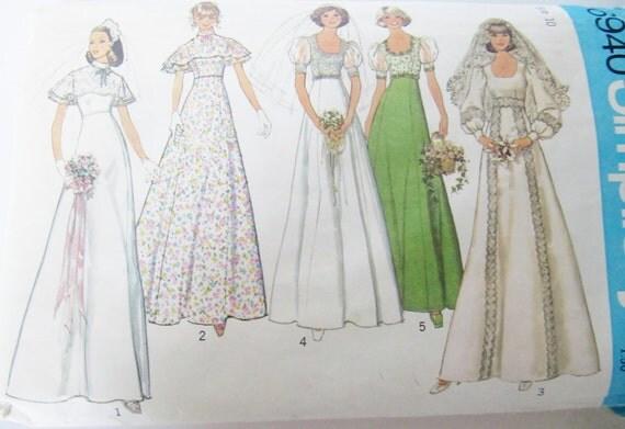 PIF Vintage Sewing Pattern Misses Bridal, Bridesmaid, or Prom Dress
