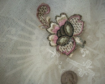 1 Antique french appliqué with metal