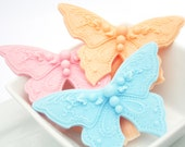 25 Baby Shower Favors Butterfly Soap Favors - Wedding Shower Favors - Optional Personalized Labels and Gift Box