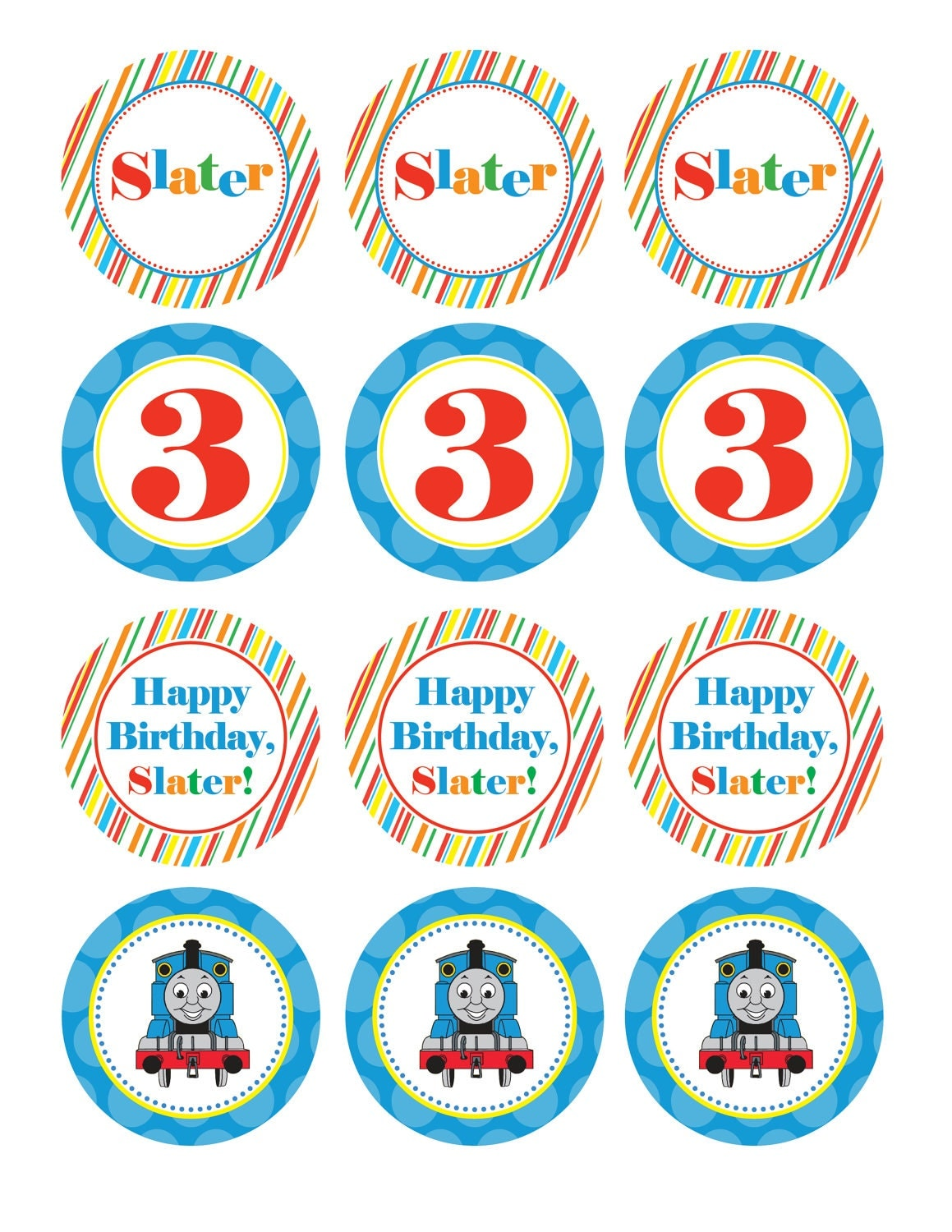It is an image of Juicy Free Printable Thomas the Train Cup Cake Toppers
