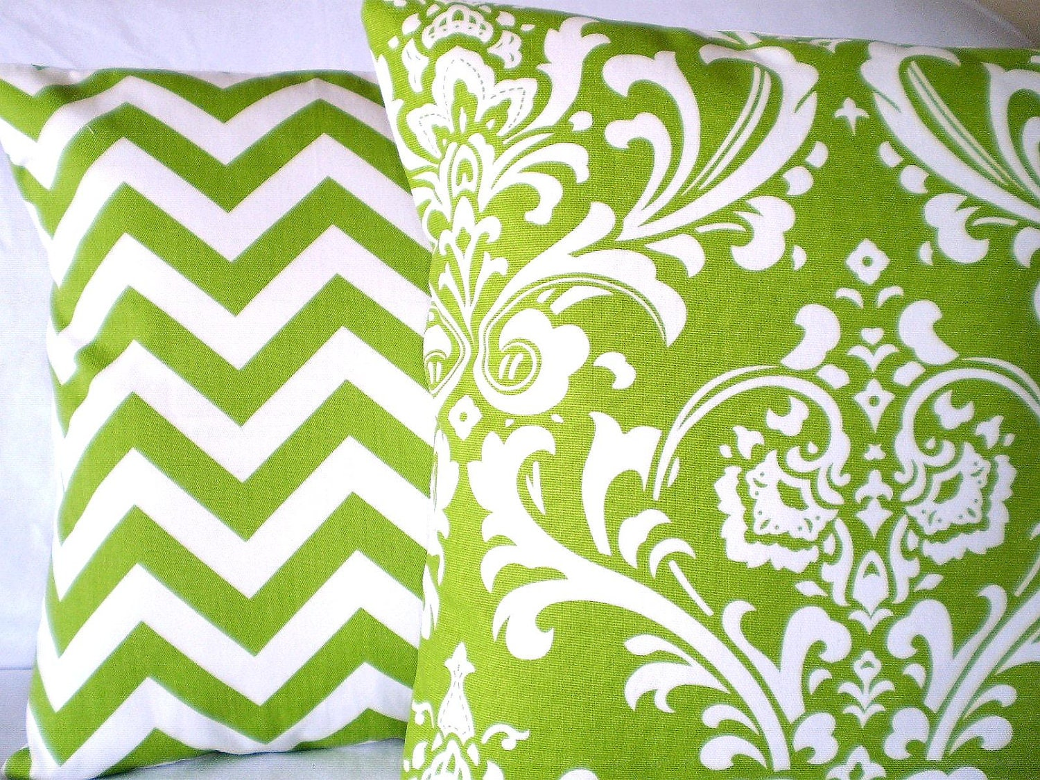 green white pillow covers decorative throw by fabricjunkie1640. Black Bedroom Furniture Sets. Home Design Ideas