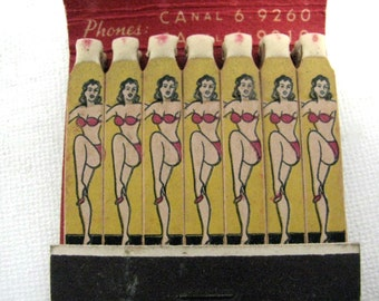 Vintage 1940's Picture Matches Club Soho Glamorous All Girl Review Floor Show Match Book