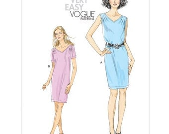 Vogue Dress Pattern v8647 - Misses' Pullover Dress - VERY EASY VOGUE -  Sz 8/10/12/14