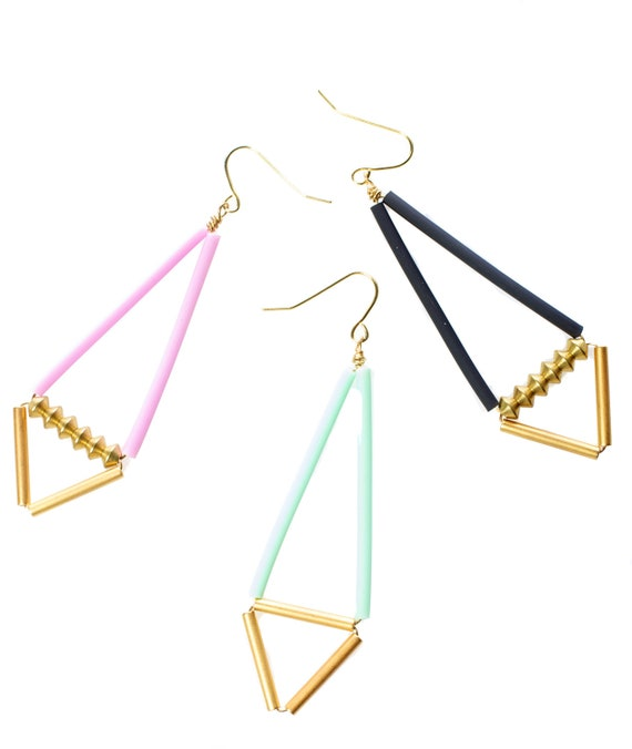 SALE // TWO Pairs of Geometric Earrings