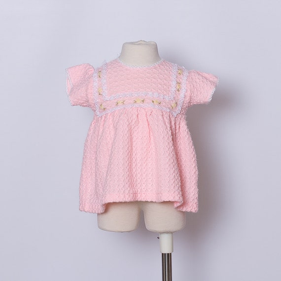 RESERVED for Mimi Cracra // vintage baby pink sweater dress / sale