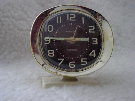 Vintage 1960s Westclox Baby Ben Wind-Up Alarm Clock Made
