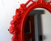 Small Hanging Mirror, Blood Orange, Wall Collage, Cubicle Decor, Home Decorating Ideas, Boho Chic Decor, Vintage Mirrors, Home Accents
