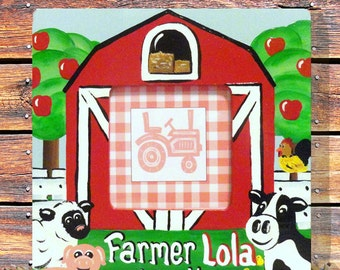 Personalized Hand Painted Farm Frame