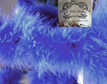Dark Royal Blue Small Short Haired Marabou Boa Feathers