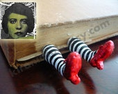 The ORIGINAL Wicked Witch Bookmark  - Ruby Slippers Bookmark - Witch Legs Bookmark - I want those shoes