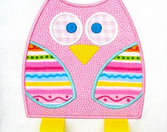 Owl Embroidery Design for Machine Embroidery Applique - Three Sizes 4x4, 5x7 & 6x10