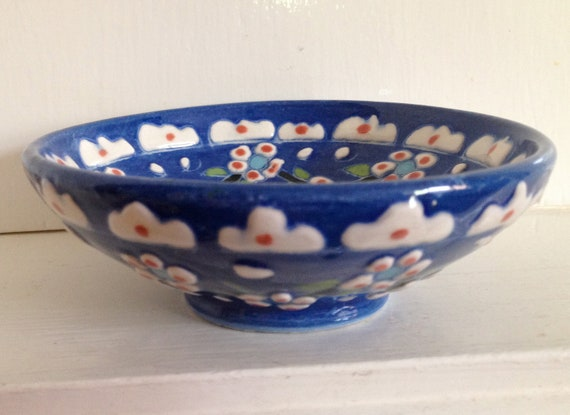 Ornate Oriental bowl china lotus sushi noodle